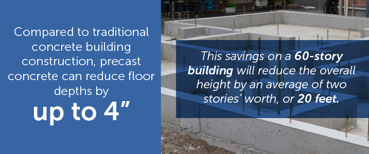 reduce concrete building height