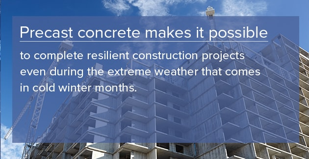 precast allows for construction in winter