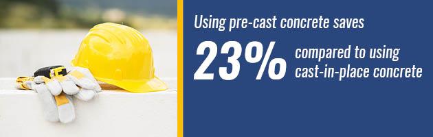 precast concrete saves money