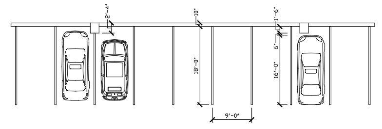 Column Encroachment in Parking Spaces -