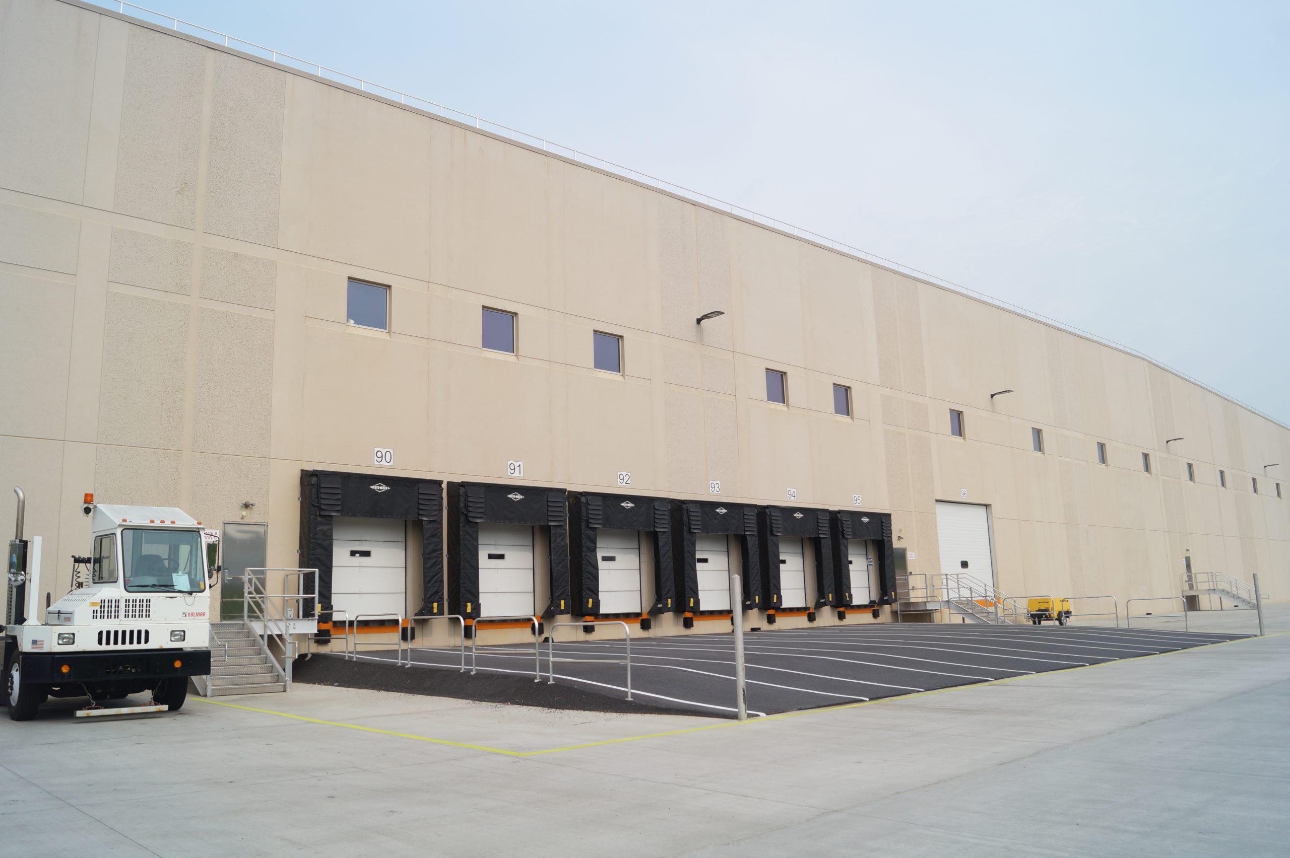 Exterior of Martin's warehouse