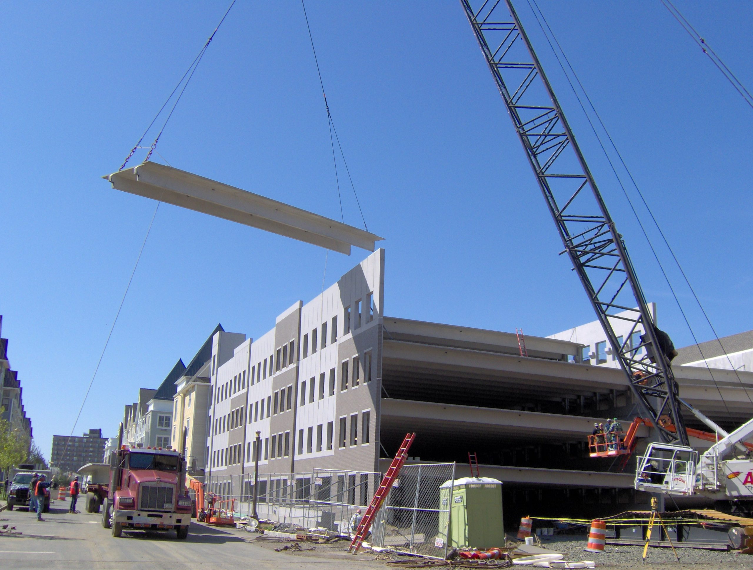 Pier Village building being constructed using precast concrete