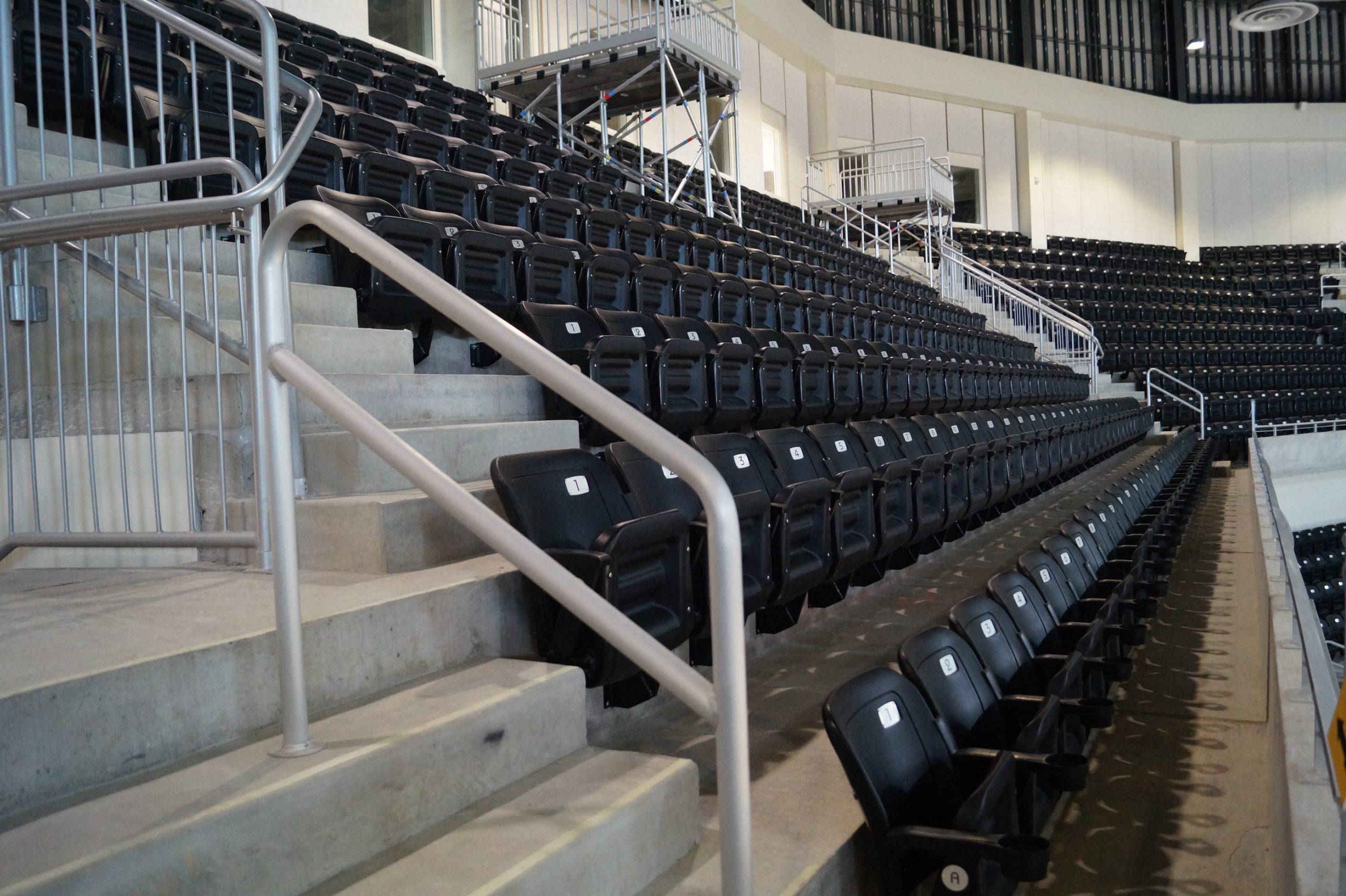 Stadium risers at UMBC's basketball stadium