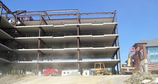 Binghamton University Building during construction